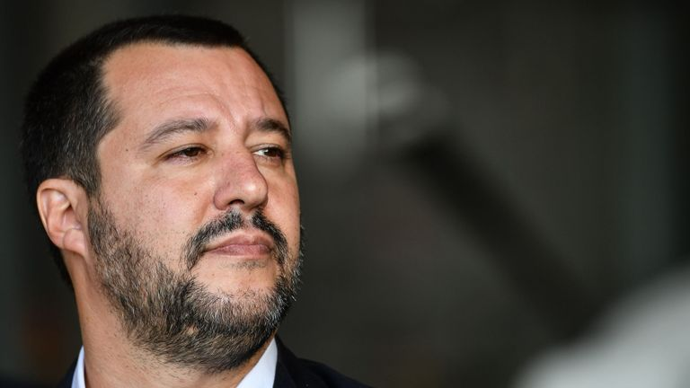 Italys Interior Minister and deputy PM Matteo Salvini.