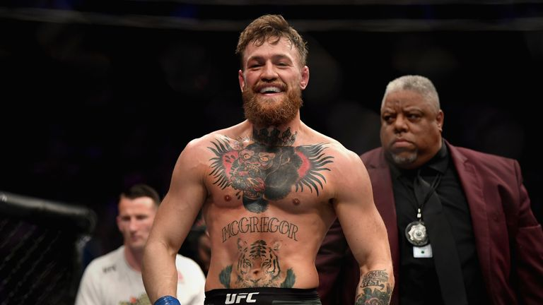 Conor McGregor during his October 2018 fight against Khabib Nurmagomedov
