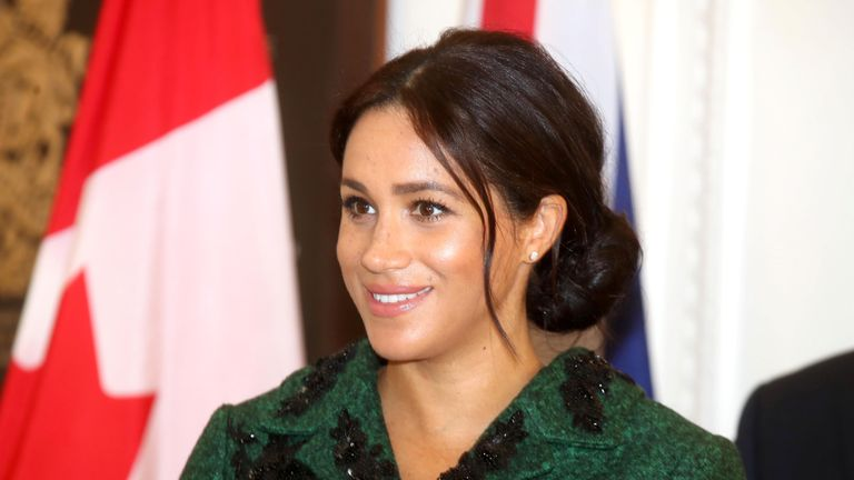 Meghan, Duchess of Sussex attends a Commonwealth Day Youth Event at Canada House in London