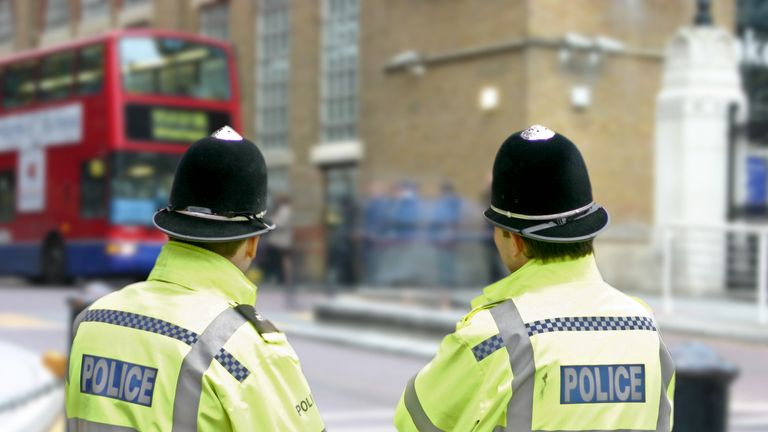 The Met Police boss's comments on the impact of police numbers contradicts the PM. File pic