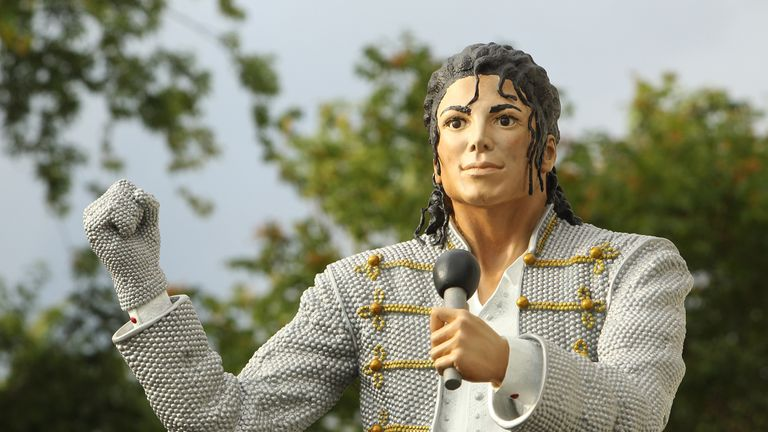 The Michael Jackson statue was unveiled outside Fulham's ground in 2011