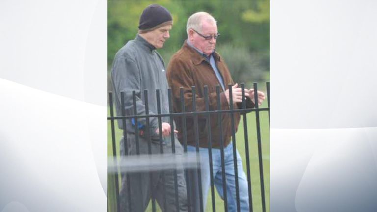 Michael Seed, left, with seen with the gang's ringleader John Collins, right