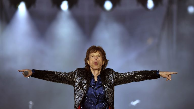 DUBLIN, IRELAND - MAY 17: Mick Jagger of The Rolling Stones performs live on stage on the opening night of the european leg of their No Filter tour at Croke Park on May 17, 2018 in Dublin, Ireland. (Photo by Charles McQuillan/Getty Images)