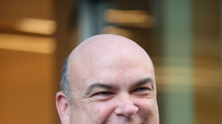 Mike Lynch leaves the Rolls Building in London following the civil case over his £8.4 billion sale of his software firm Autonomy to Hewlett-Packard in 2011.