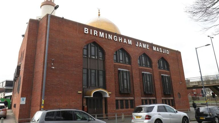 The Birmingham Al-Habib mosque in Birchfield Road was damaged too