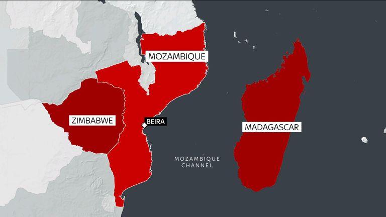 Cyclone Idai hit areas of Mozambique, Zimbabwe and Malawi