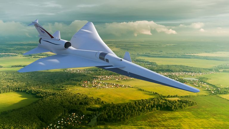 Credits: NASA Image The X-59 Quiet SuperSonic Technology X-plane, or QueSST, will test its quiet supersonic technologies by flying over communities in the United States. X-59 is designed so that when flying supersonic, people on the ground will hear nothing more than a quiet sonic thump – if anything at all. The scientifically valid data gathered from these community overflights will be presented to U.S. and international regulators, who will use the information to help them come up with rules b