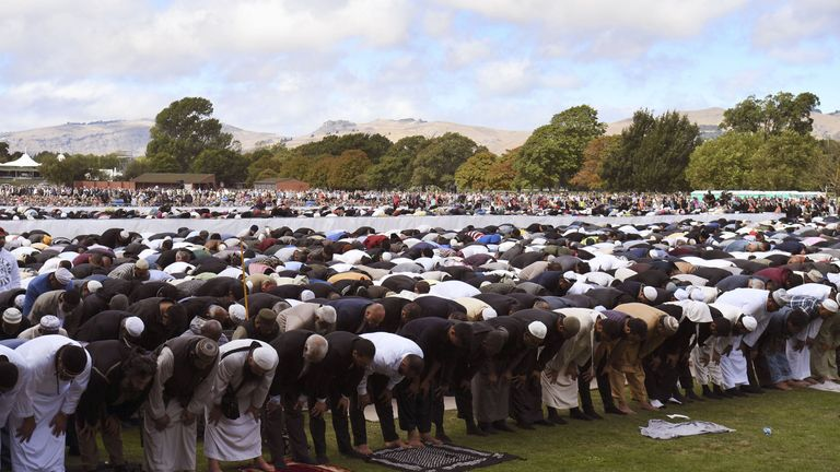 Thousands joined in prayers brought a striking and defiant response to the shooting