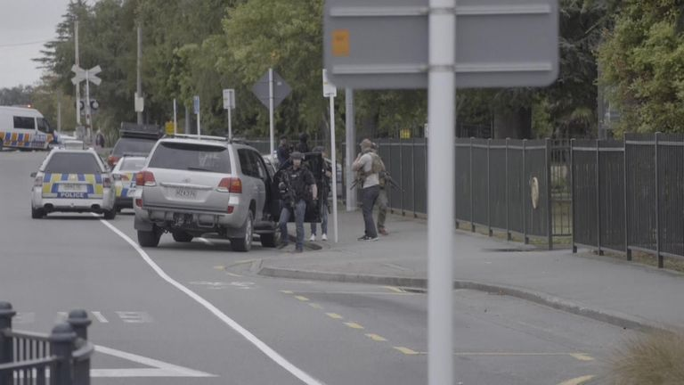 Armed police respond to New Zealand shootings