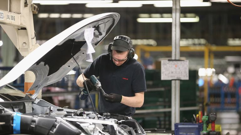 The Nissan Qashqai is made on an assembly line in Sunderland