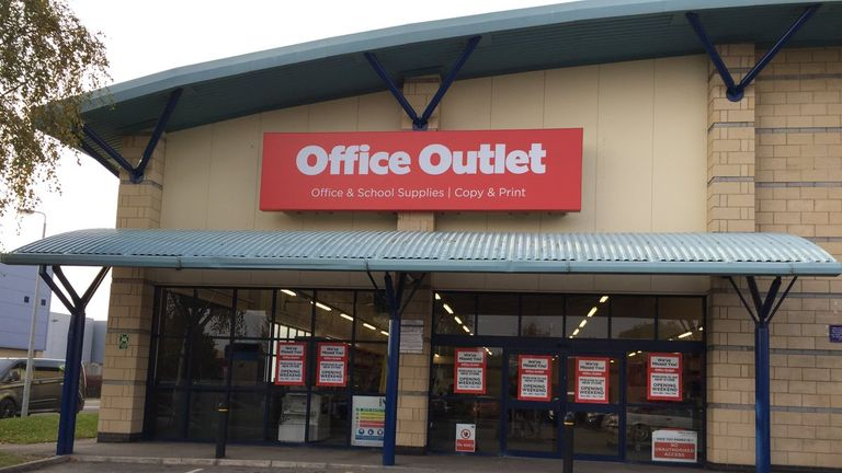 Office Outlet used to be known as Staples and has no connection to the Staples business that trades online. Pic: Office Outlet