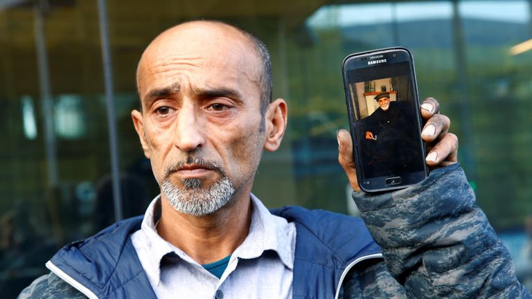Omar Nabi speaks to the media about losing his father Haji Daoud in the mosque attacks, at the district court in Christchurch, New Zealand, March 16, 2019