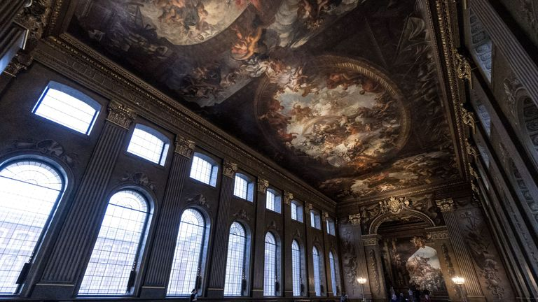 The Painted Hall was restored over a two year period