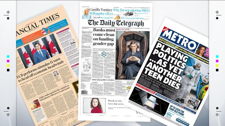 Thursday night's papers