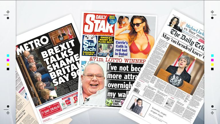Thursday's national newspaper front pages | UK News | Sky News