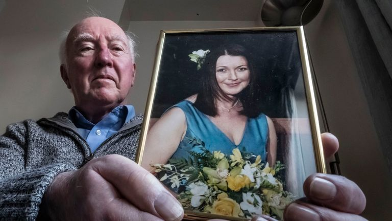 File photo dated 12/3/2019 of Peter Lawrence, at his home near York, holding a photograph of his daughter Claudia. The search for the chef could be being hampered by the withholding of vital information, police have said 10 years after she was last seen. PRESS ASSOCIATION Photo. Issue date: Monday March 18, 2019. Monday marks a decade since the University of York chef vanished on March 18 2009 at the age of 35