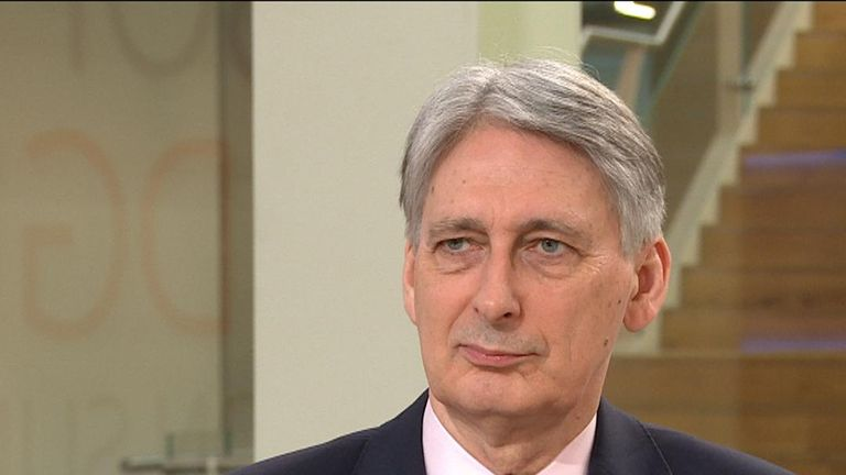 Philip Hammond indicates that changing the prime minister now would be 'self-indulgent'