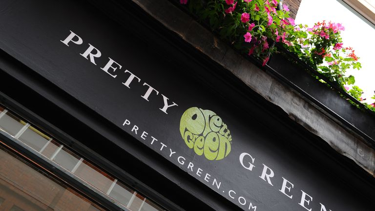 The new pop up shop Pretty Green in Carnaby Street, London. PRESS ASSOCIATION photo. Picture date: Thursday 29th July 2010. Photo credit should read Ian West/PA