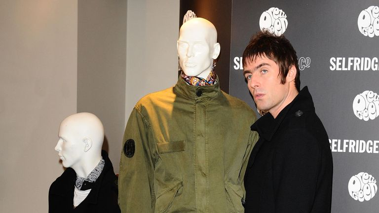 Liam Gallagher launches his new clothing range: Pretty Green, and signs autographs at Selfridges in London