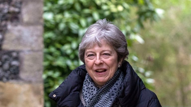 Prime Minister Theresa May at church near her Maidenhead constituency