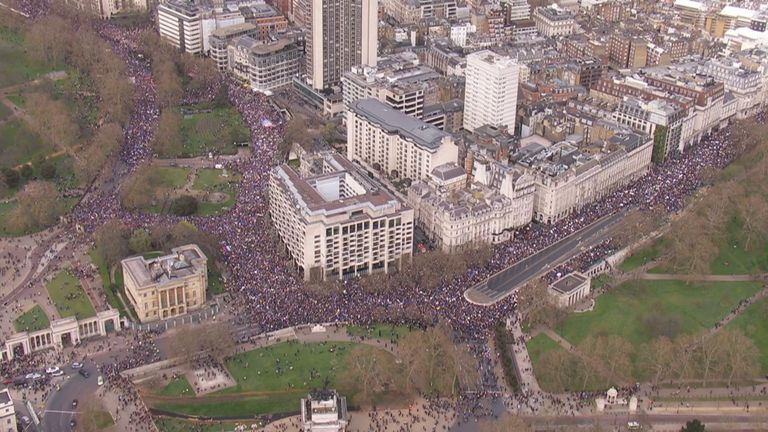 Put It To The People Brexit protesters march through Central London