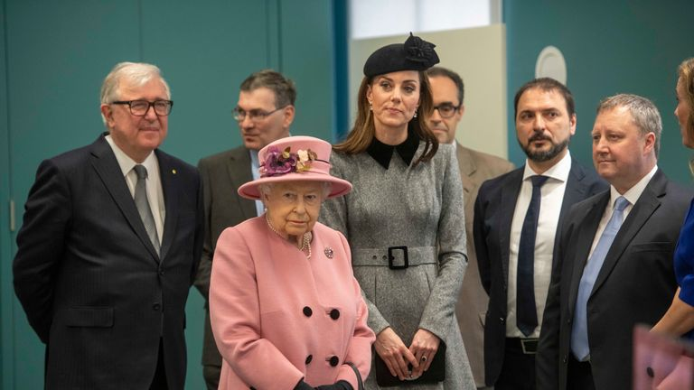 The Queen and the Duchess of Cambridge visit King's College