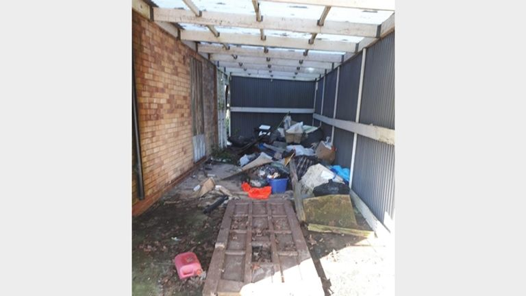 Rubbish can be found both in and outside of the property. Pic: Bagshaws Residential