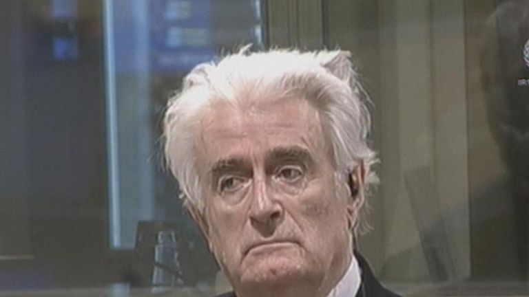 Radovan Karadzic has his sentence increased to life during an 'appeal' in The Hague