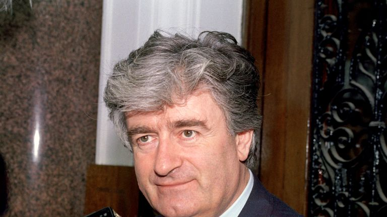 Radovan Karadzic, pictured in 1992