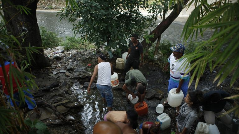 Venezuela's capital still doesn't have the power to pump water.