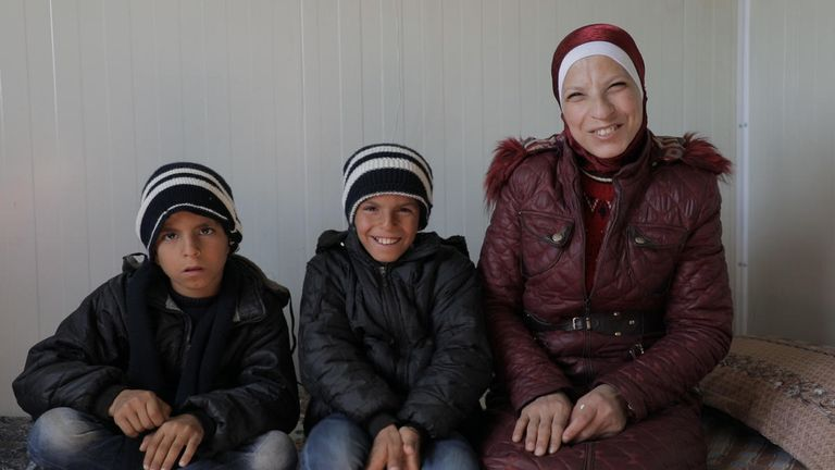 Rasha reunited with her sons Yousef, 11, and Mohammed, nine, after five years of separation