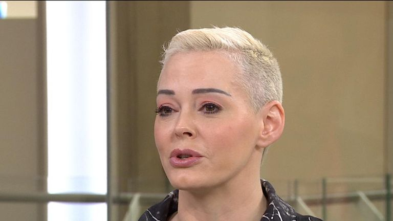 Actress Rose McGowan says there is abuse of power in Hollywood