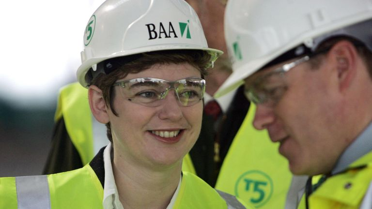Ruth Kelly, the Education Secretary during her visit to the Heathrow Terminal 5 site 22/3/2005