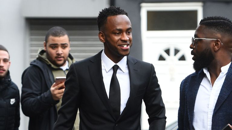 Saido Berahino arrives at Highbury Corner Magistrates' Court