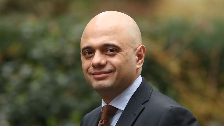 Britain's Home Secretary Sajid Javid arrives for the weekly cabinet meeting at 10 Downing Street in London on March 12, 2019. - Britain faces a moment of truth Tuesday when parliament votes on Prime Minister Theresa May's ill-loved Brexit plan -- a day after she said she secured last-minute changes to the deal from the EU. May huddled late Monday with EU leaders in Strasbourg in a bid to salvage the vision of Brexit she set out after coming to power nearly three years ago. The two sides then ann