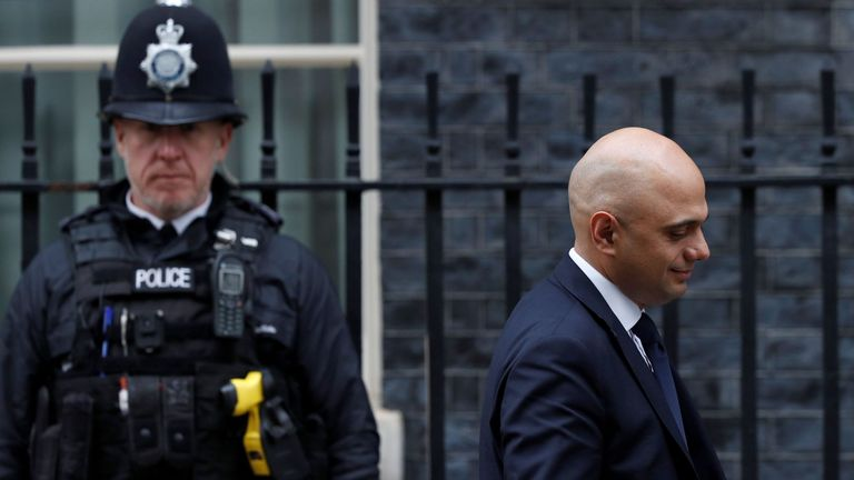 Sajid Javid insists he is listening to the concerns of police chiefs