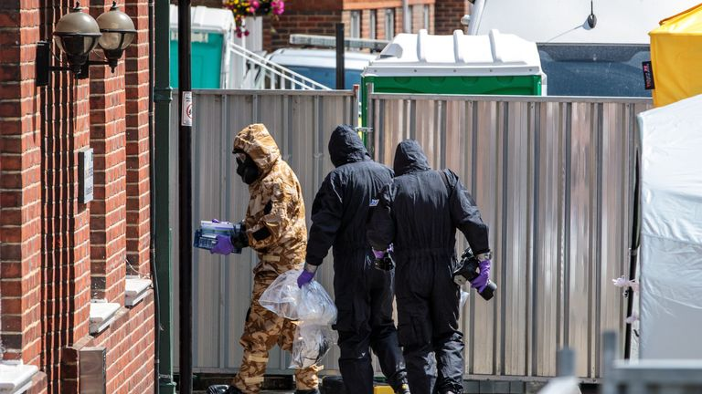 The military were involved in decontamination efforts after the Salisbury and Amesbury poisonings