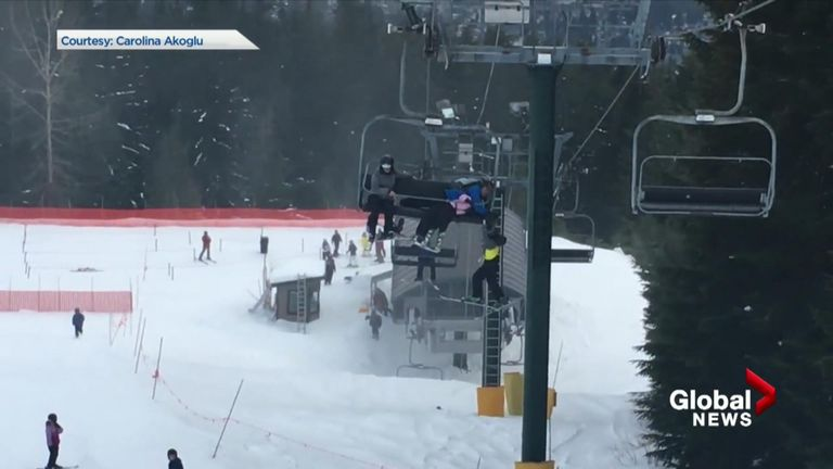 Boy rescued from ski lift on Grouse Mountain, Canada