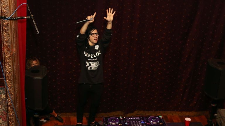 Skrillex's music is characterised by throbbing bass-lines and electronic melodies