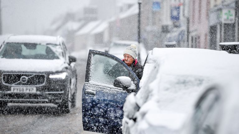 Motorists have been warned about snowy conditions on roads in Scotland