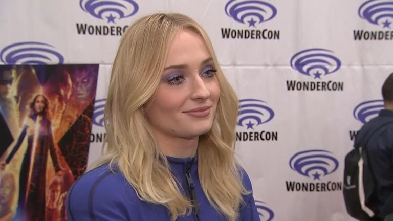 Sophie Turner talks in interview at WonderCon.