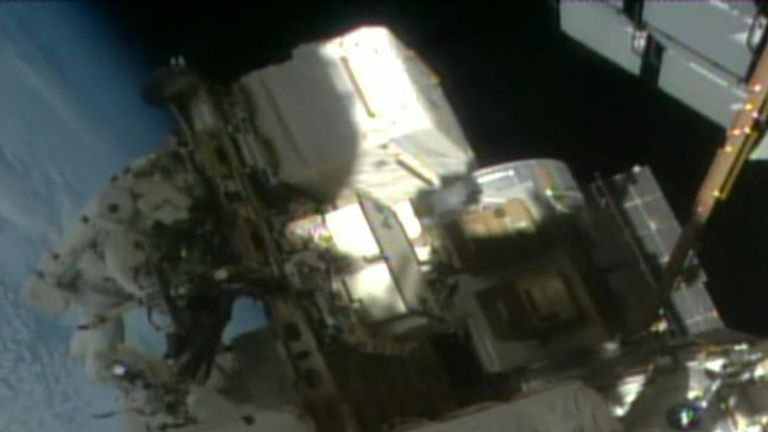 Mixed gender spacewalk goes ahead outside ISS