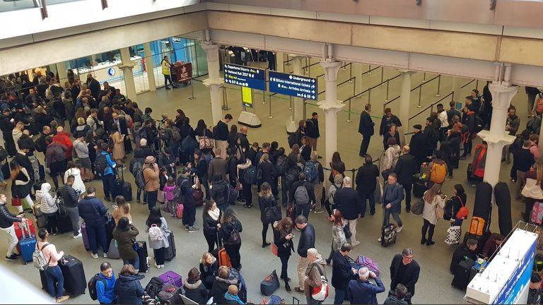 Elliott Duke, affected Eurostar passengers at St Pancras
