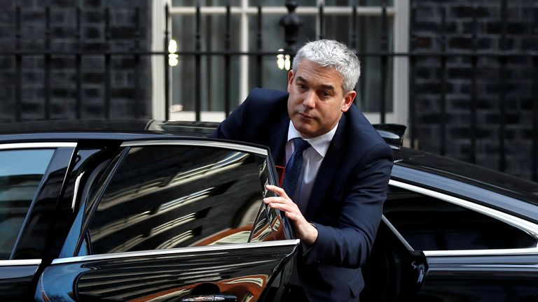Secretary of State for Exiting the European Union Stephen Barclay arrives in Downing Street