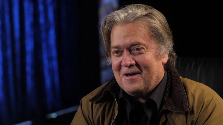 Sky News' US correspondent Amanda Walker sat down with former Trump strategist Steve Bannon about border walls, Brexit and Trump.
