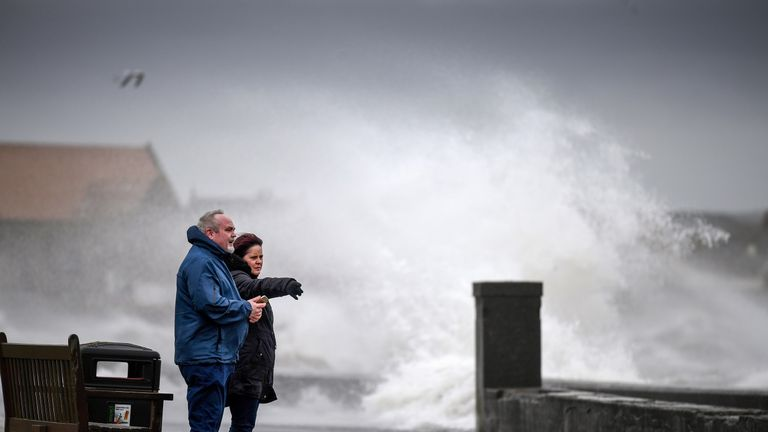 Storm Erik brought heavy rain and wind to Scotland in February