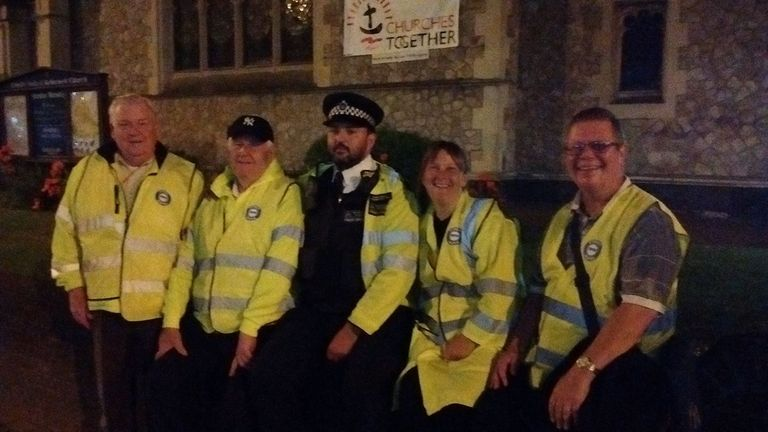 Locals have teamed up with the police to patrol the streets. Pic: Street Watch