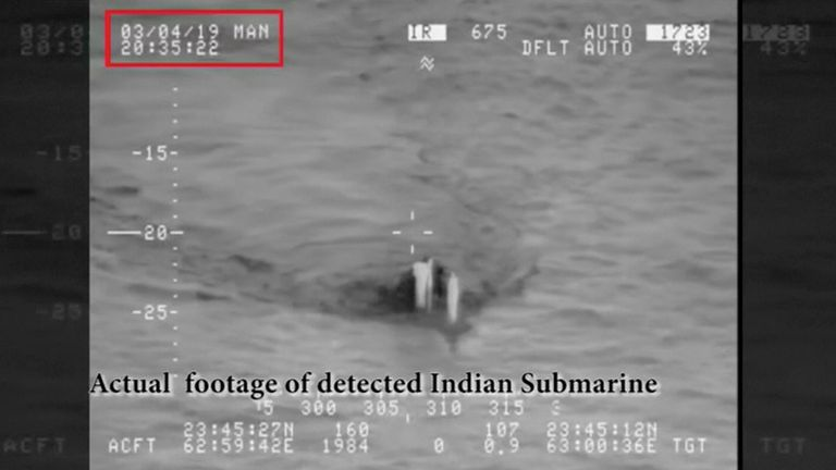 The submarine was warned off as it approached Pakistani waters, the country's navy said