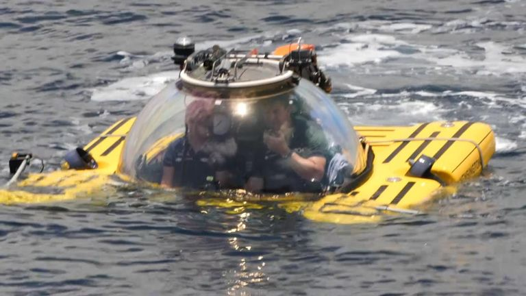 Submersibles are being used to film the deep ocean