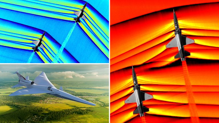 The stunning NASA images show the force of supersonic planes. Pic: NASA